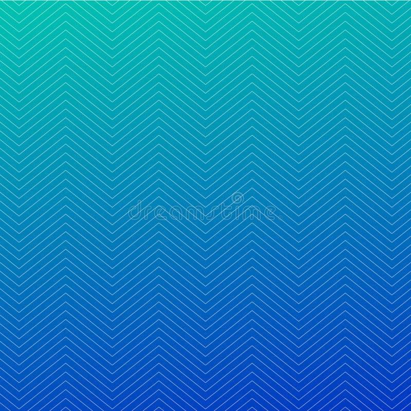 Strukturierter blauer Hintergrundentwurf des Zickzacks Nahtloses Muster des einfachen Sparrens Schablone für Drucke, Packpapier,  stock abbildung