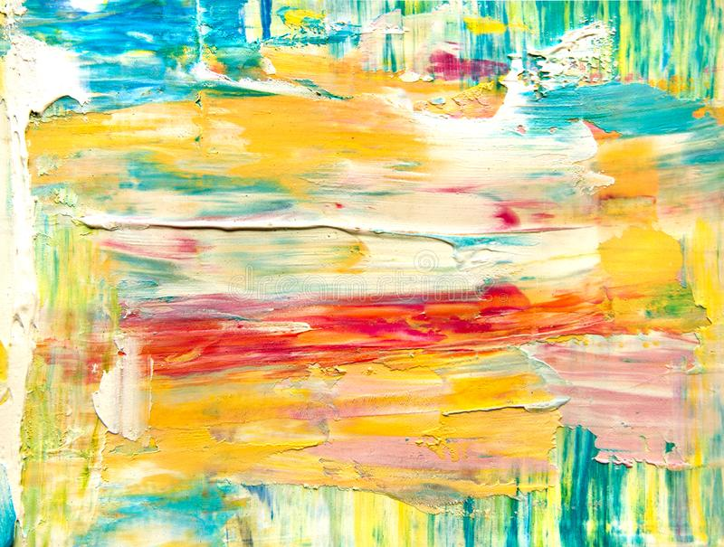 Strukturierter Hintergrund der Farbe auf Segeltuch stock abbildung