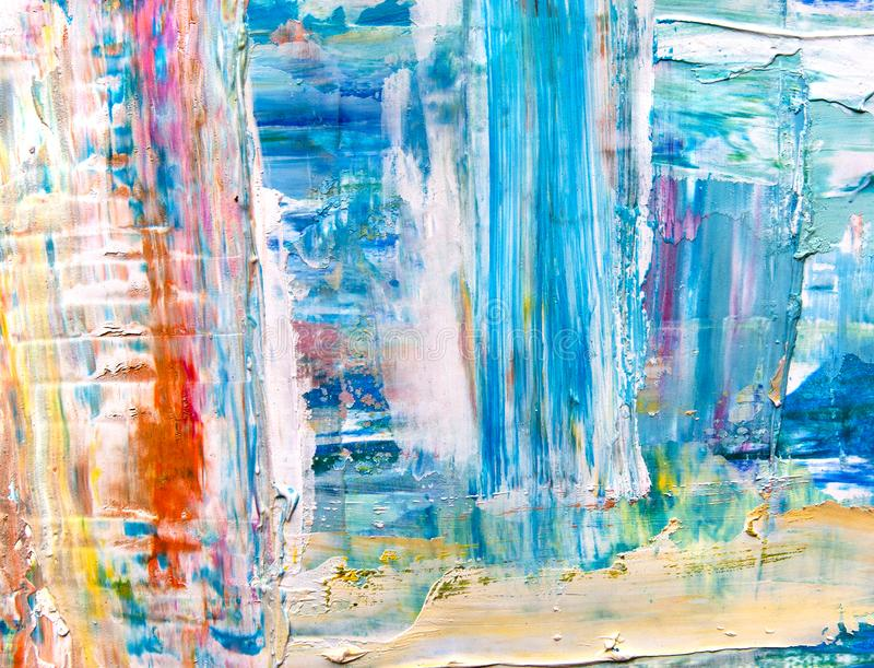 Strukturierter Hintergrund der Farbe auf Segeltuch lizenzfreie abbildung
