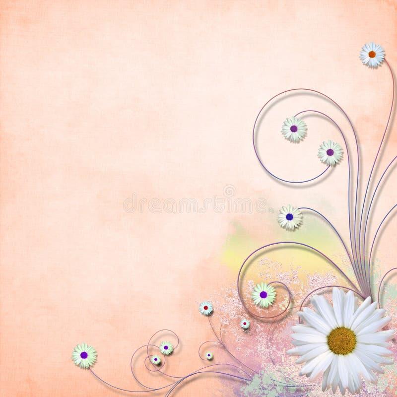 Strukturierter Hintergrund des Grunge Gänseblümchens vektor lizenzfreies stockbild