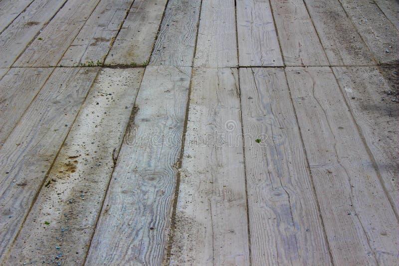 Strukturierter Hintergrund des Holzbrückemusters stockfotografie