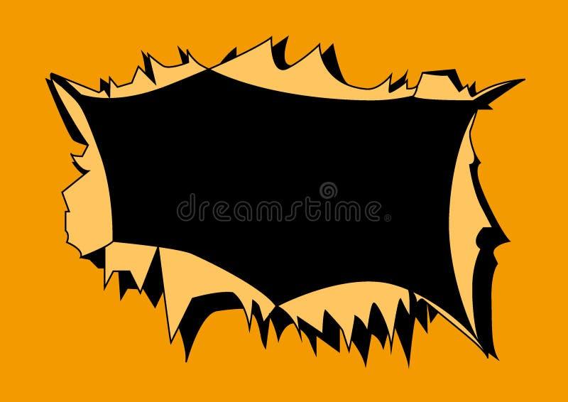 Strukturierter Hintergrund des orange Papierrisses stock abbildung