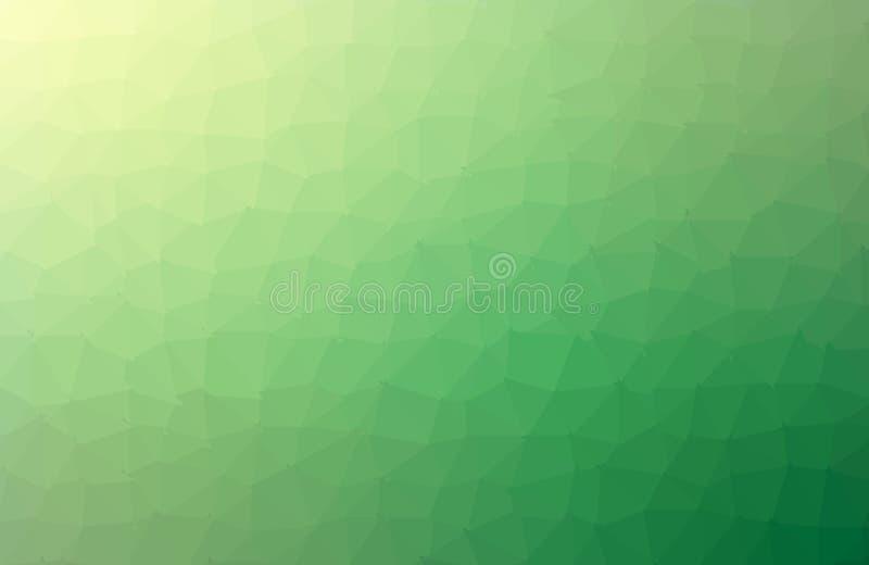 Strukturierter polygonaler Hintergrund der hellgr?nen Vektorzusammenfassung Undeutliches Dreieckdesign Muster kann f?r Hintergrun lizenzfreie abbildung