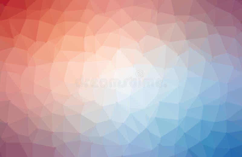 Strukturierter polygonaler Hintergrund der Mehrfarbenvektorzusammenfassung Undeutliches Dreieckdesign Muster kann f?r Hintergrund stock abbildung