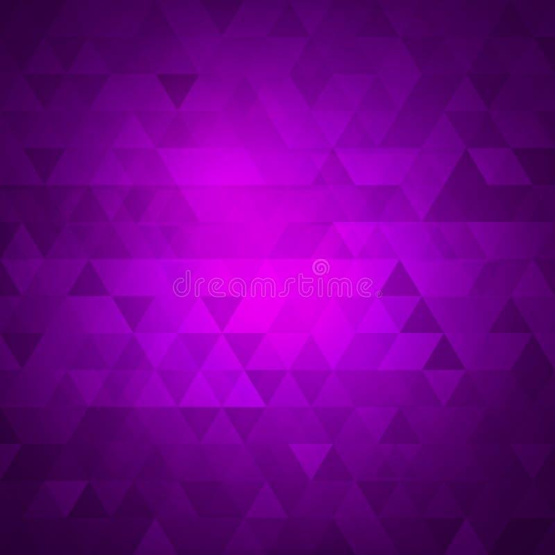 Strukturierter polygonaler Hintergrund der Vektor-Illustrationszusammenfassung undeutliches Dreieckhintergrunddesign lizenzfreie abbildung