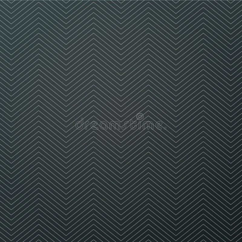 Strukturierter schwarzer Hintergrundentwurf des weißen Zickzacks Nahtloses Muster des einfachen Sparrens Schablone f?r Drucke, Pa stock abbildung