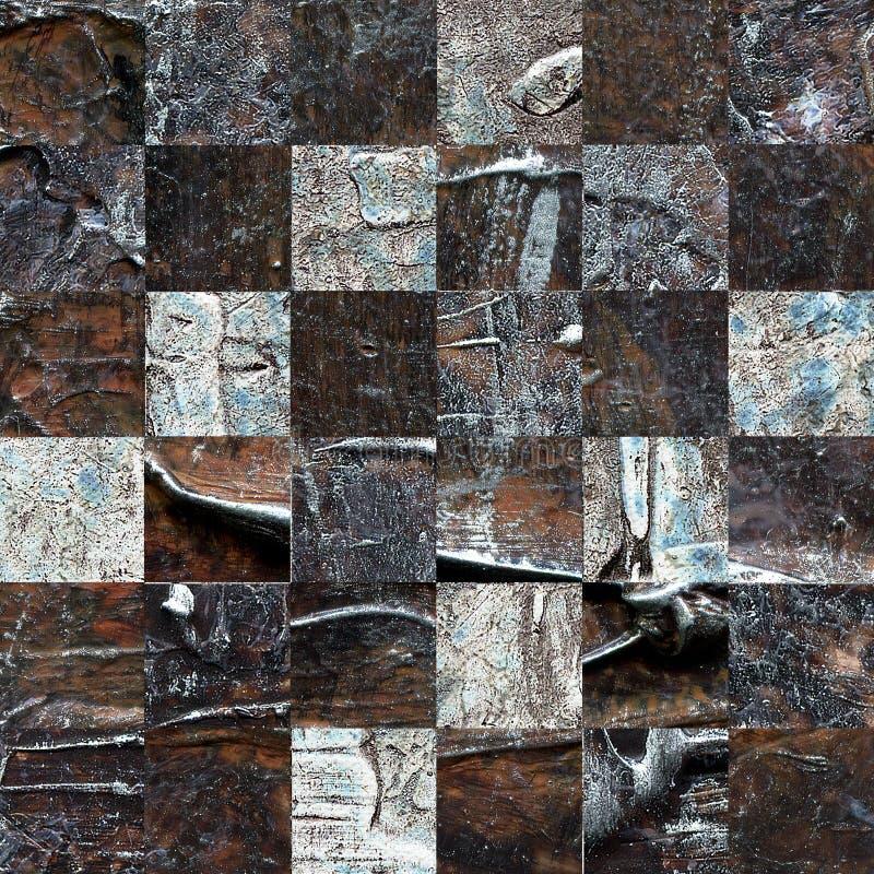 Strukturiertes abstraktes kariertes nahtloses Muster des Schmutzes lizenzfreie stockfotografie