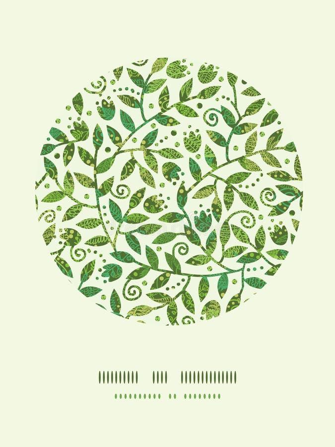 Strukturiertes buntes Niederlassungs-Kreis-Dekor-Muster stock abbildung