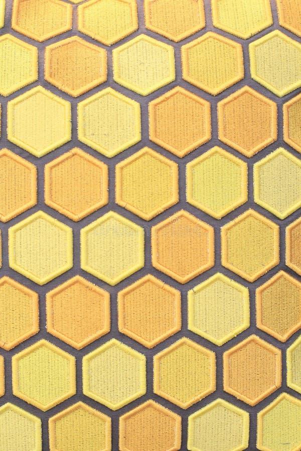 Strukturiertes Honigkammdesign stockfotografie
