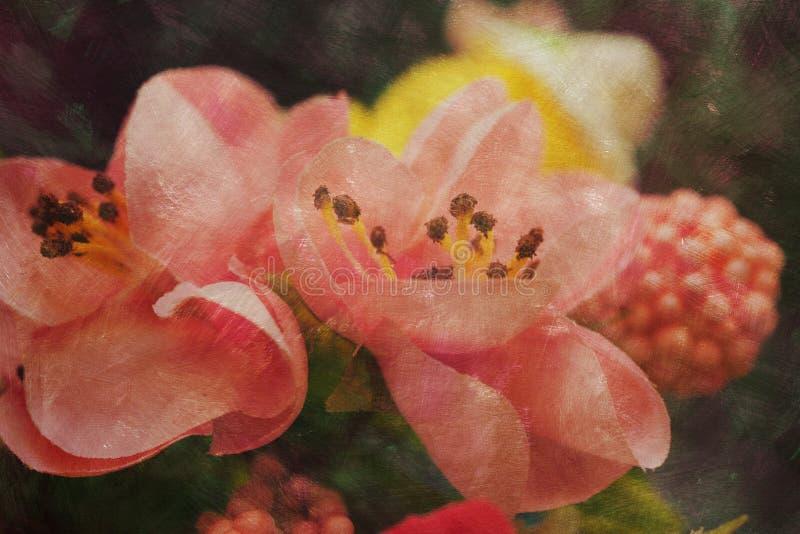 Strukturiertes künstlerisches Bild der Frühlingszusammensetzung lizenzfreie stockfotos