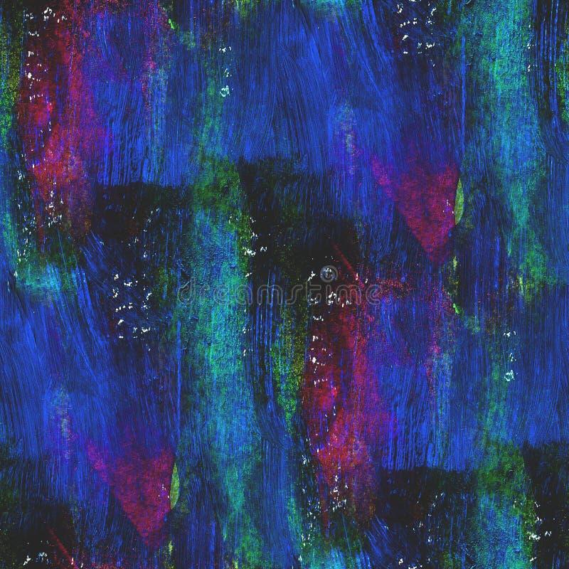 Strukturiertes purpurrotes, blaues, grünes nahtloses Konzept stock abbildung