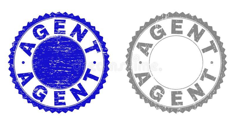 Strukturiertes VERTRETER Grunge Watermarks mit Band vektor abbildung