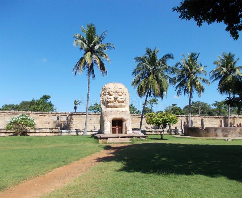 Struktury outside świątynia przypomina lwa zdjęcie royalty free