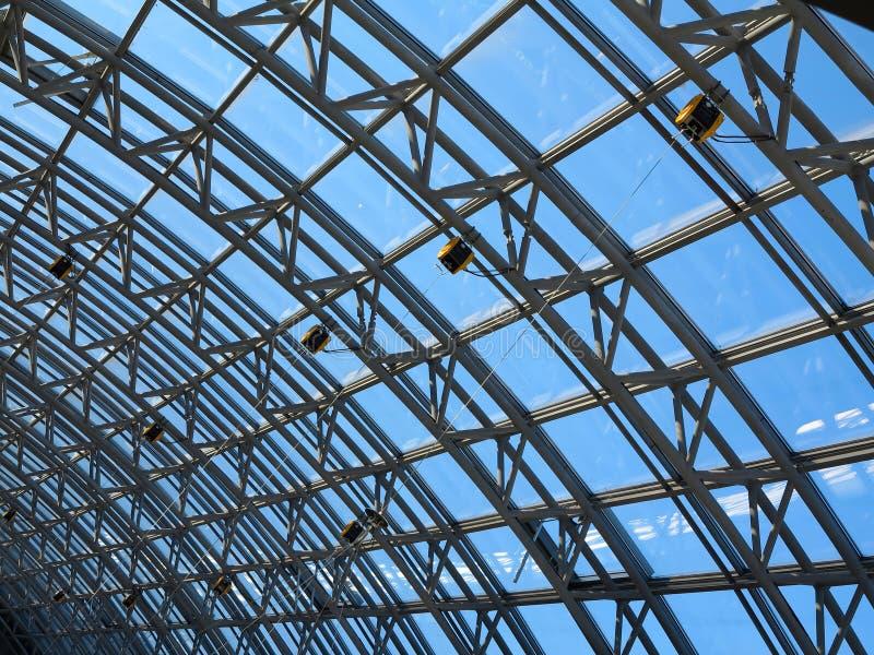 Struktury skylight szkła dachu okno obraz royalty free