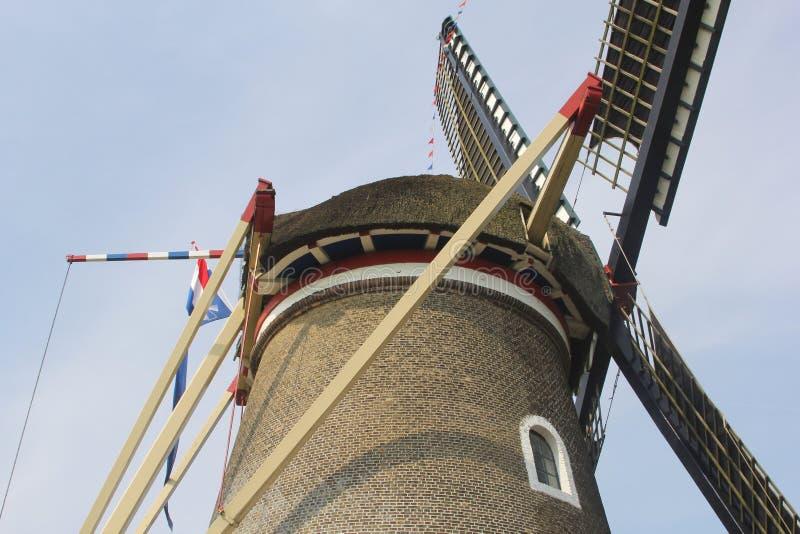 Struktury tradycyjny Holenderski kukurydzany wiatraczek, Ho zdjęcie royalty free