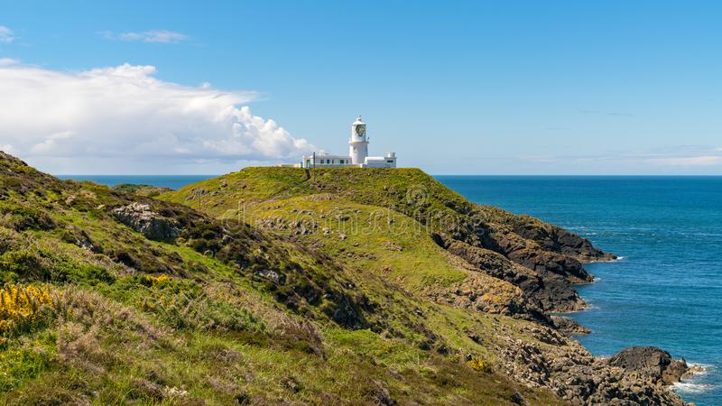 Strumble Head Lighthouse, Pembrokeshire, Wales, UK. Strumble Head Lighthouse near Goodwick, Pembrokeshire, Dyfed, Wales, UK royalty free stock image