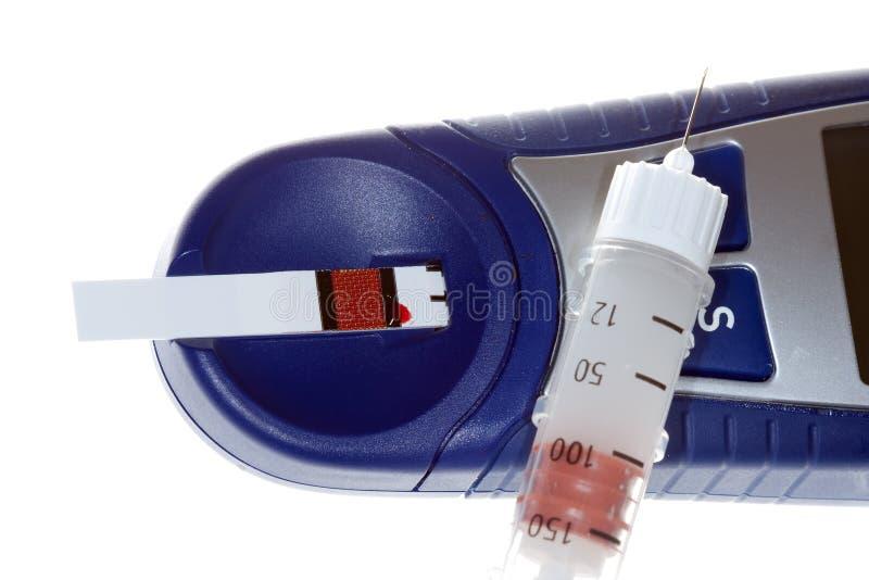 Strumentazione del diabete immagini stock