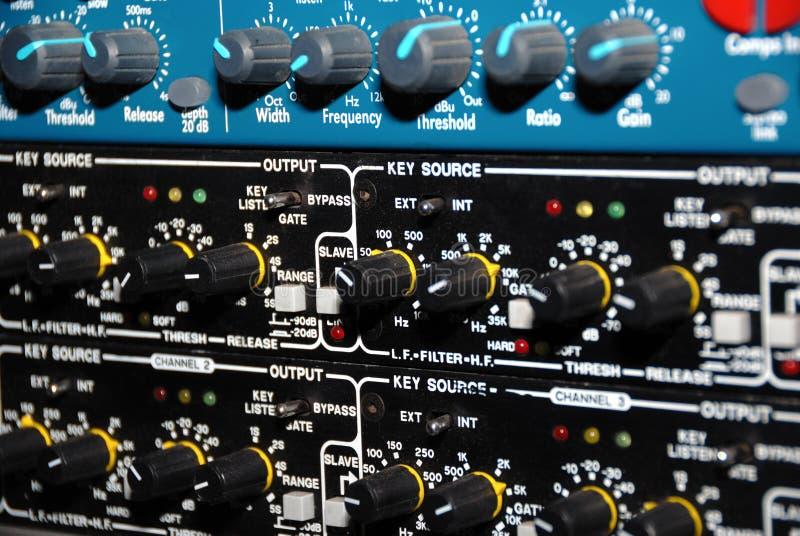Strumentazione della registrazione del suono (strumentazione di media) fotografia stock libera da diritti