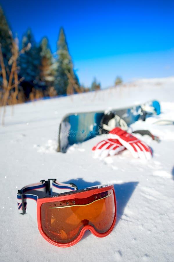 Strumentazione dello Snowboard fotografia stock libera da diritti