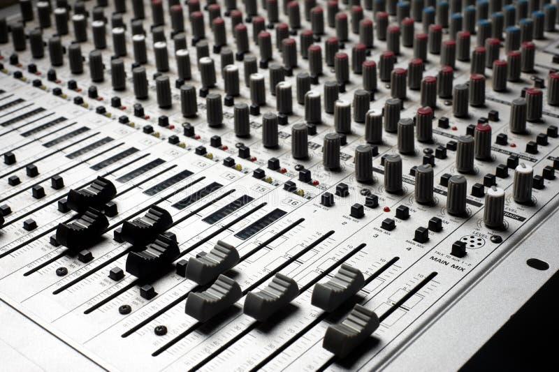 Strumentazione di audio registrazione immagini stock