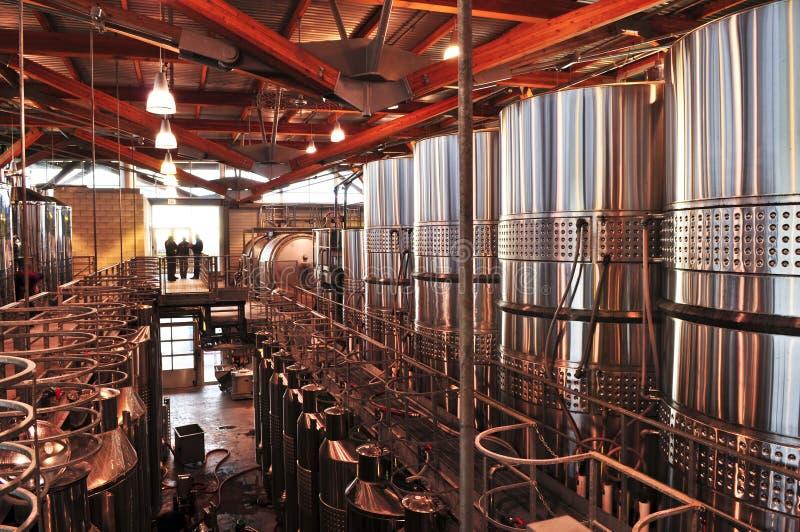 Strumentazione di fabbricazione di vino fotografia stock