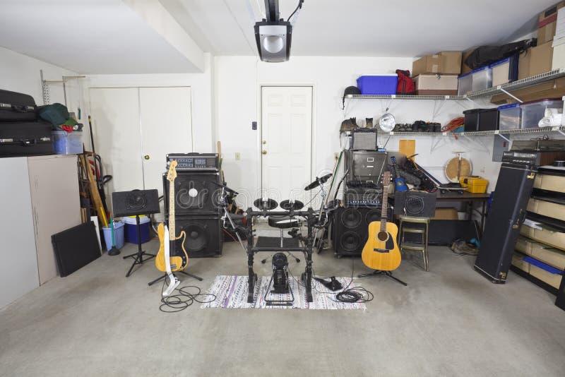 Strumentazione di musica di fascia del garage fotografia stock