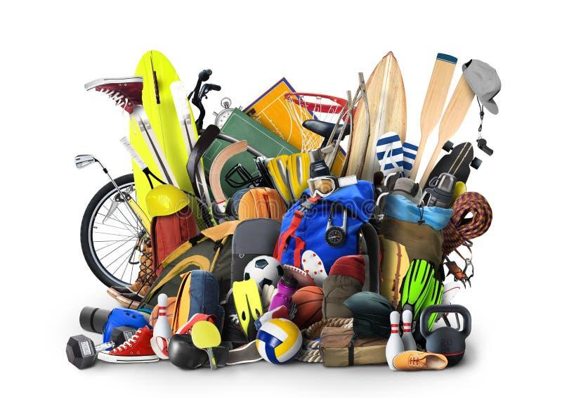 Strumentazione di sport illustrazione di stock