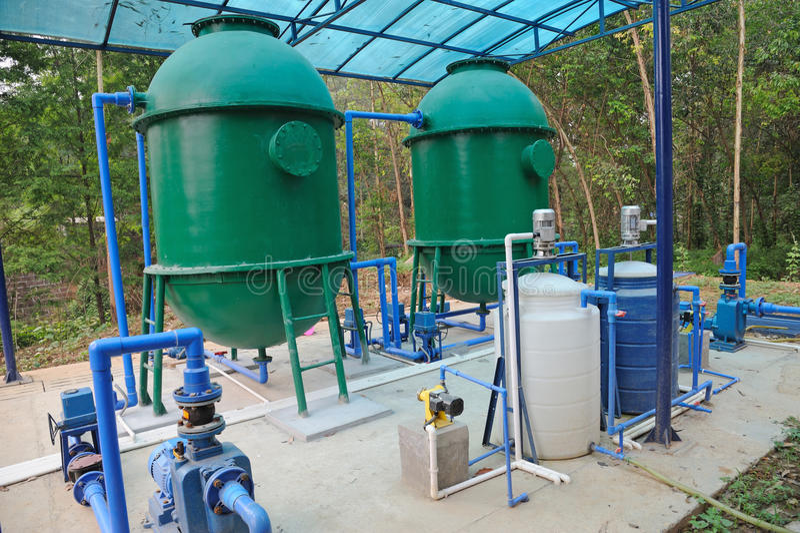 Strumentazione di trattamento delle acque fotografia stock