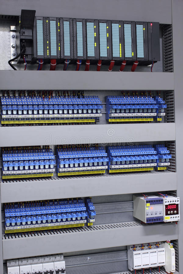 Strumentazione elettrica di controllo e di automazione fotografia stock libera da diritti