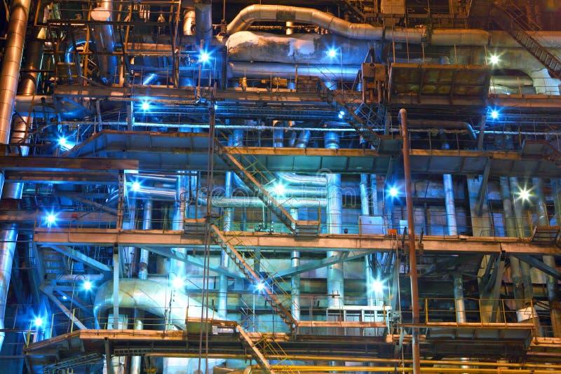 Strumentazione industriale Fabbrica interno immagine stock