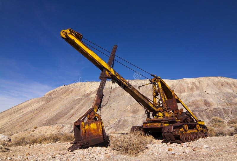 Strumentazione pesante di vecchia estrazione mineraria fotografie stock libere da diritti