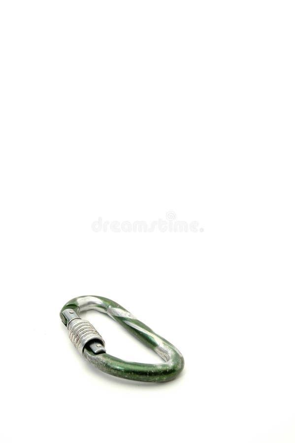 Strumentazione rampicante - Carabiners #2 usato serratura fotografia stock