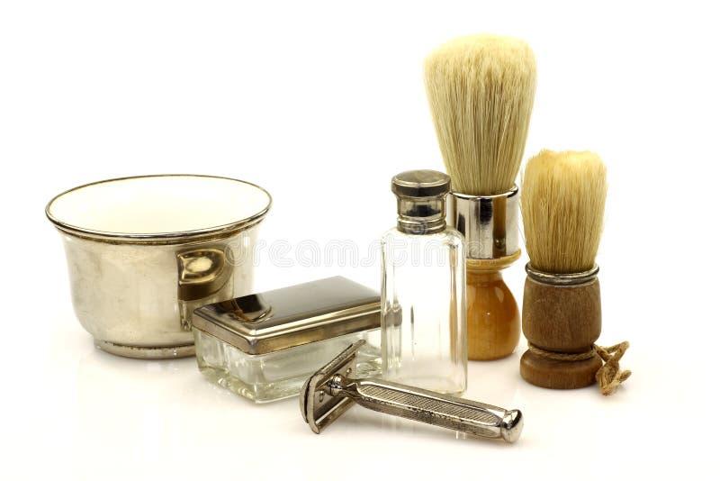 Strumenti del barbiere dell'annata immagine stock libera da diritti