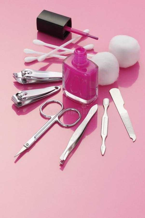 Strumenti del manicure fotografie stock