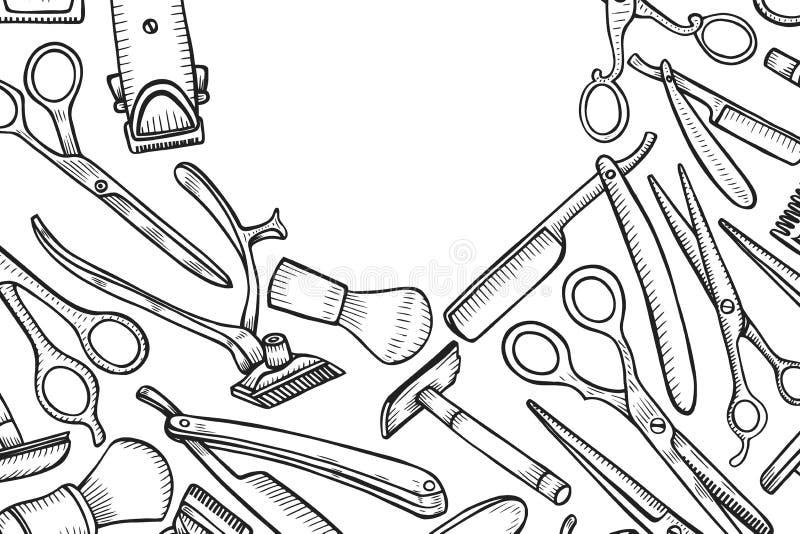 Strumenti del professionista dei parrucchieri illustrazione di stock