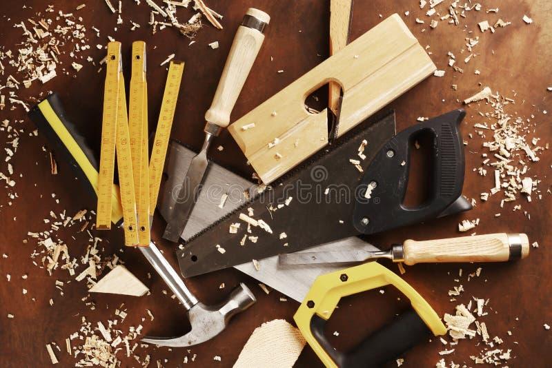Strumenti del `s del carpentiere immagine stock
