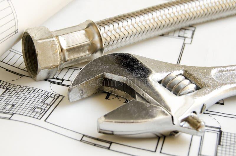 Strumenti dell'impianto idraulico fotografia stock libera da diritti