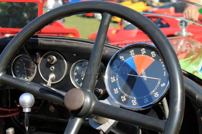 strumenti della cabina di pilotaggio del corridore degli anni 30 immagine stock libera da diritti