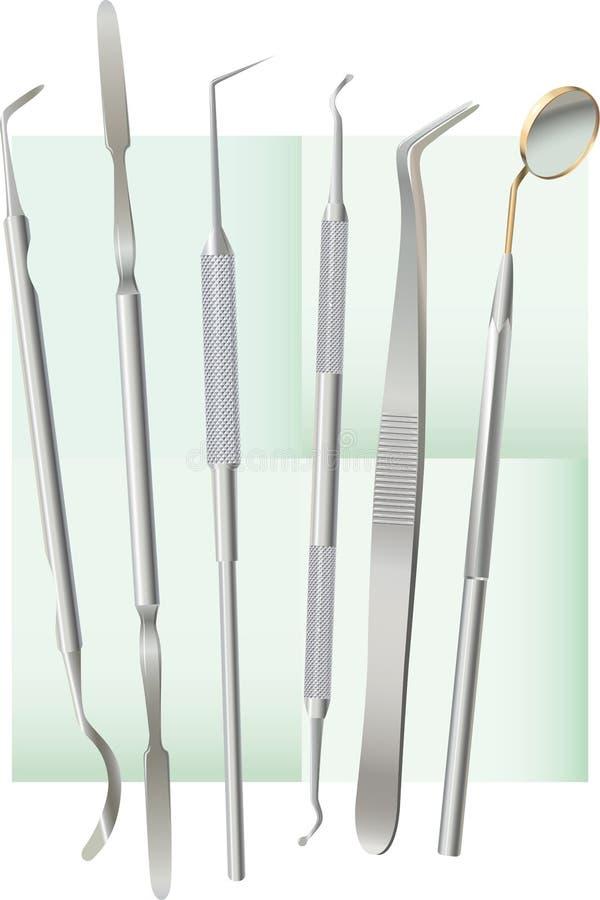 Strumenti dentali illustrazione vettoriale