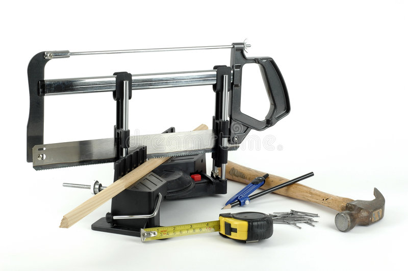 Strumenti di carpenteria fotografia stock libera da diritti