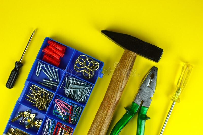 Strumenti di gadget per la home page immagine stock