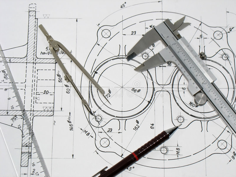 Strumenti di ingegneria immagine stock