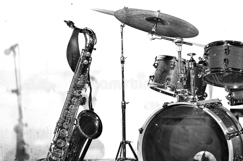 Strumenti di jazz fotografie stock libere da diritti