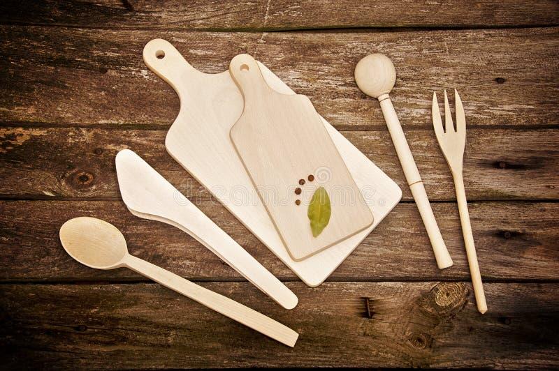Strumenti di legno della cucina immagine stock immagine for Strumenti di cucina