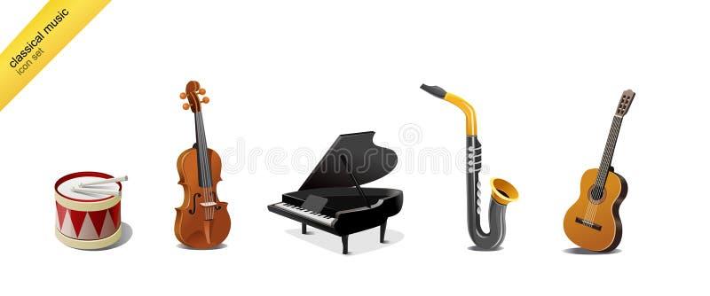 Strumenti di musica classica illustrazione vettoriale