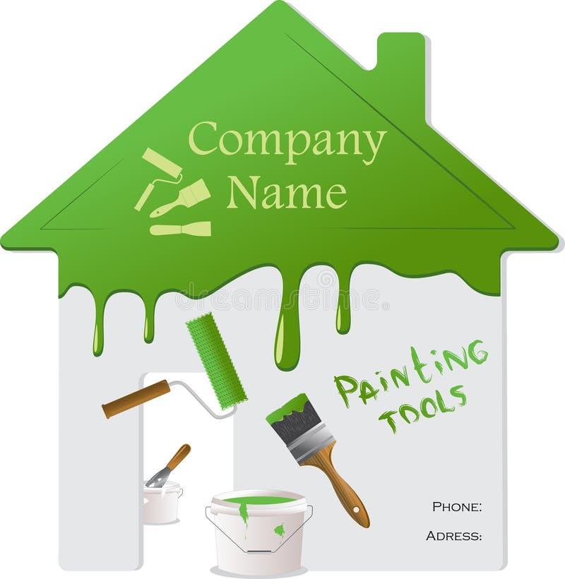 Strumenti domestici della pittura e di riparazione royalty illustrazione gratis