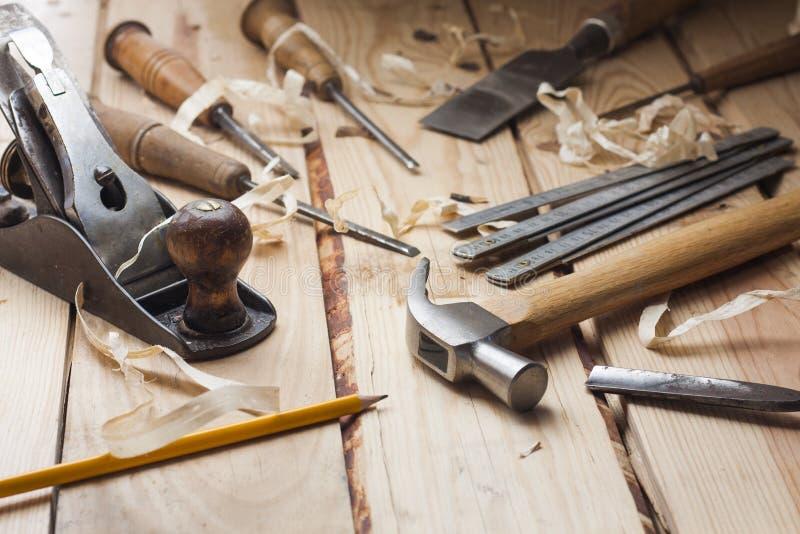 Strumenti del carpentiere immagine stock