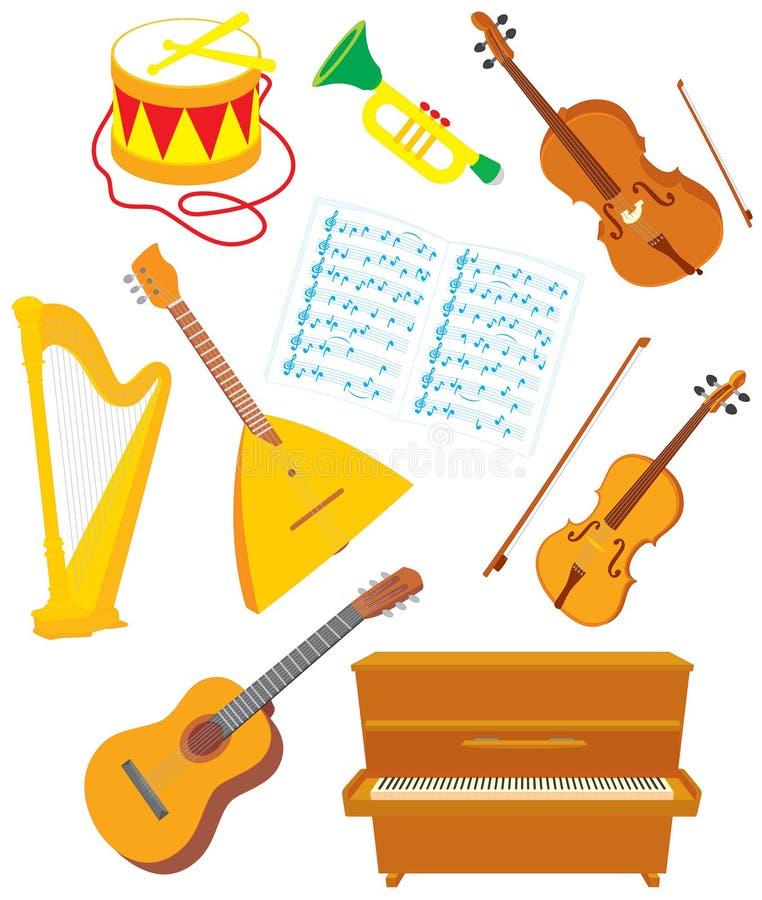 Strumenti musicali illustrazione di stock