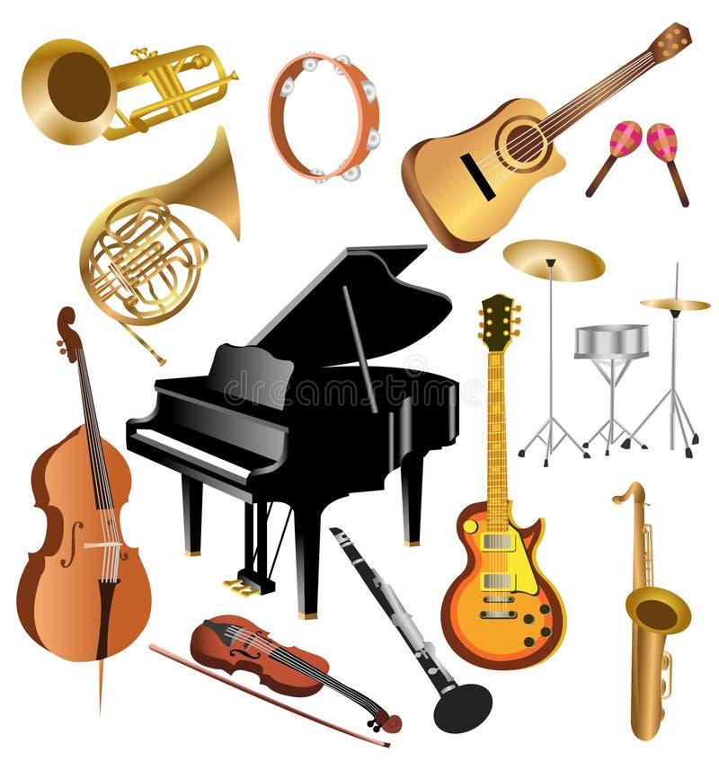 Strumenti musicali royalty illustrazione gratis