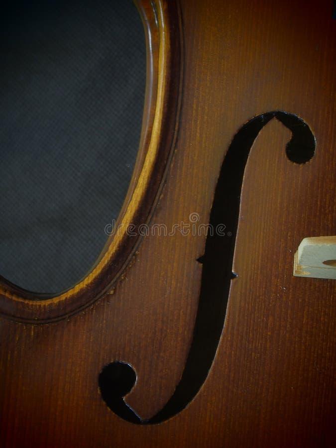 Strumenti musicali classici di melodia del violino 4/4 del foro sano immagine stock libera da diritti